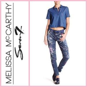 Seven7 Melissa Mccarthy Splatter Paint Jeans